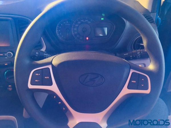 All new Santro Launch steering wheel