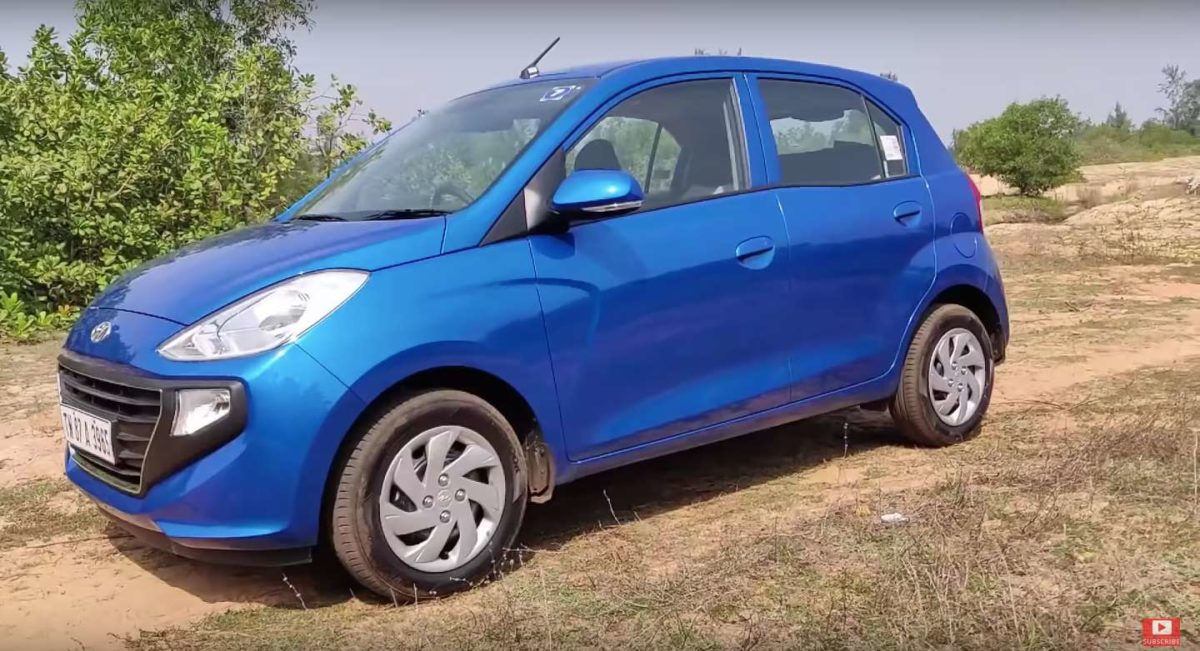 All new Santro side quarter