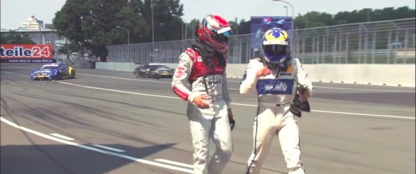 Audi Merc drivers argument