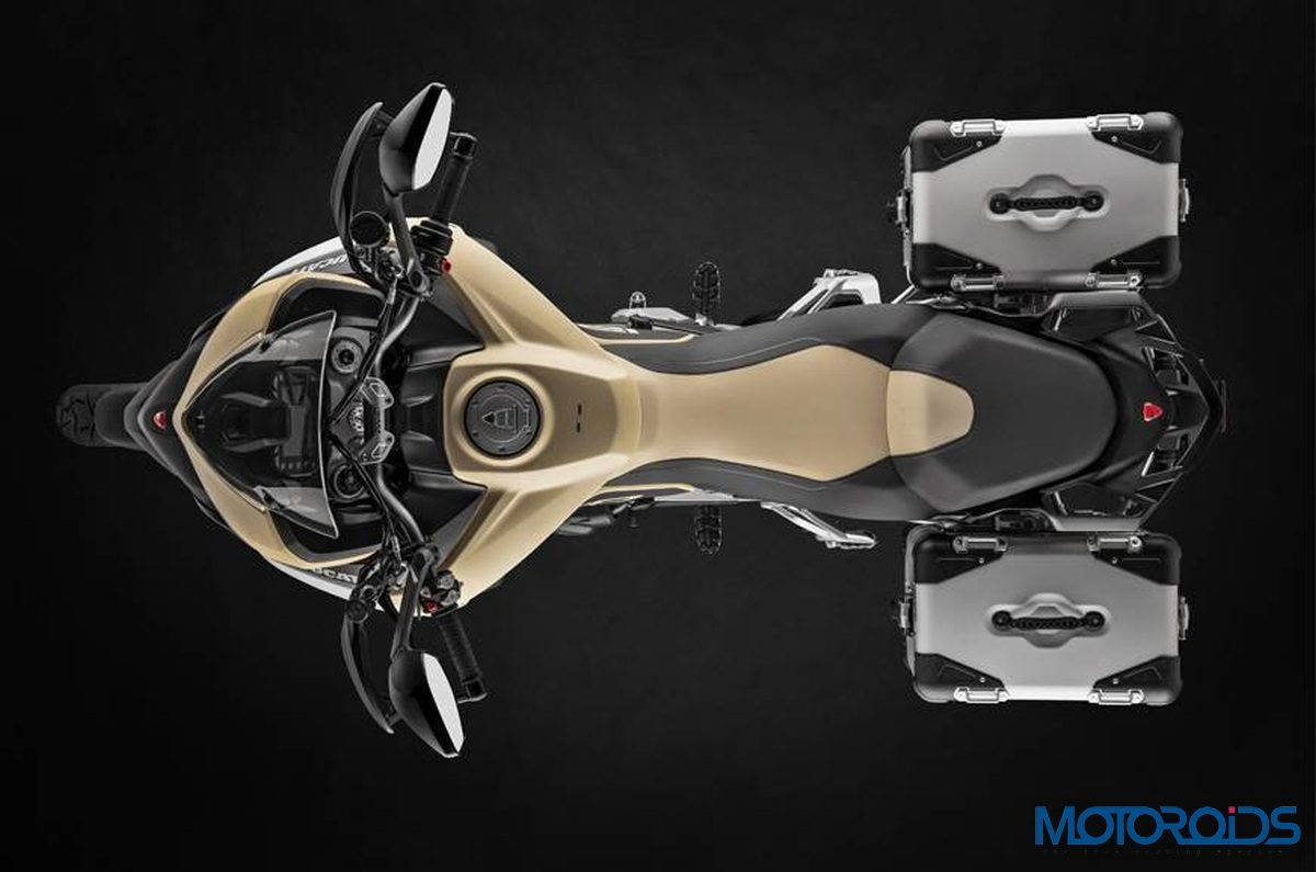 Ducati Multistrada 1260 Enduro Sand Top View 2019