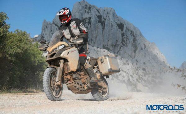Ducati Multistrada 1260 Enduro Sand Front Three Quarter 2019