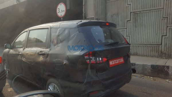 Ertiga spy rear quarter