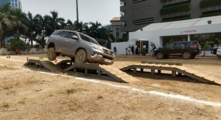 Fortuner off road camp articulation entry