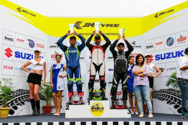 Gixxer cup podium
