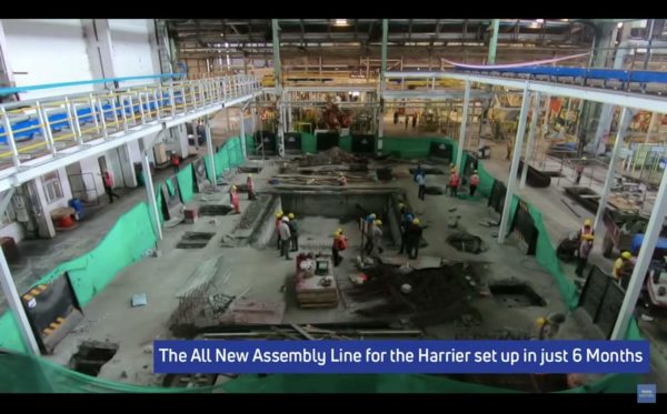 Harrier manufacturing plant