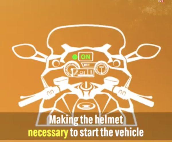 Himanshu bike helmet device