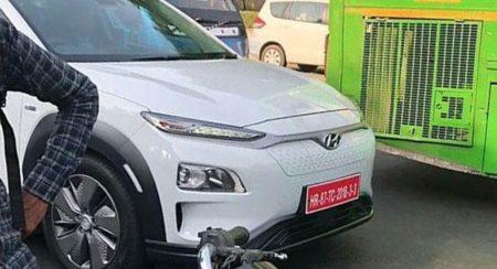 Hyundai Kona EV Spied Testing Front View