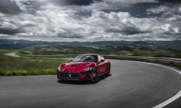Maserati rolling on road