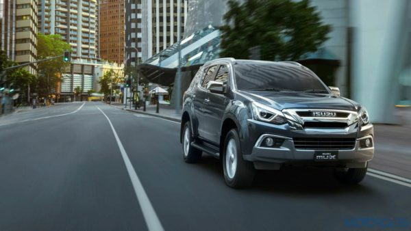 New 2019 Isuzu MU X on road