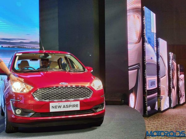 New Ford Aspire red front