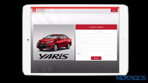 Toyota Opening empty iPad