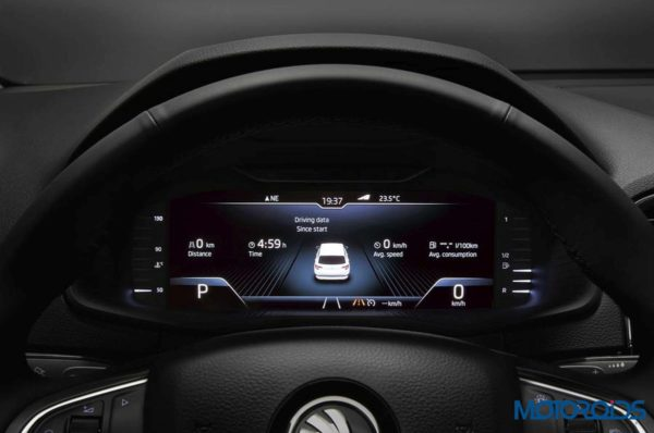 Skoda To Offer Virtual Cockpit On Its Big Cars | Motoroids
