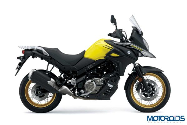 2018 Suzuki V-Strom 650 XT ABS Black & Yellow Side