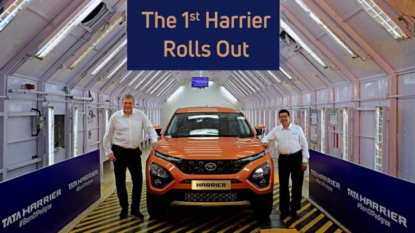 Tata Harrier roll out