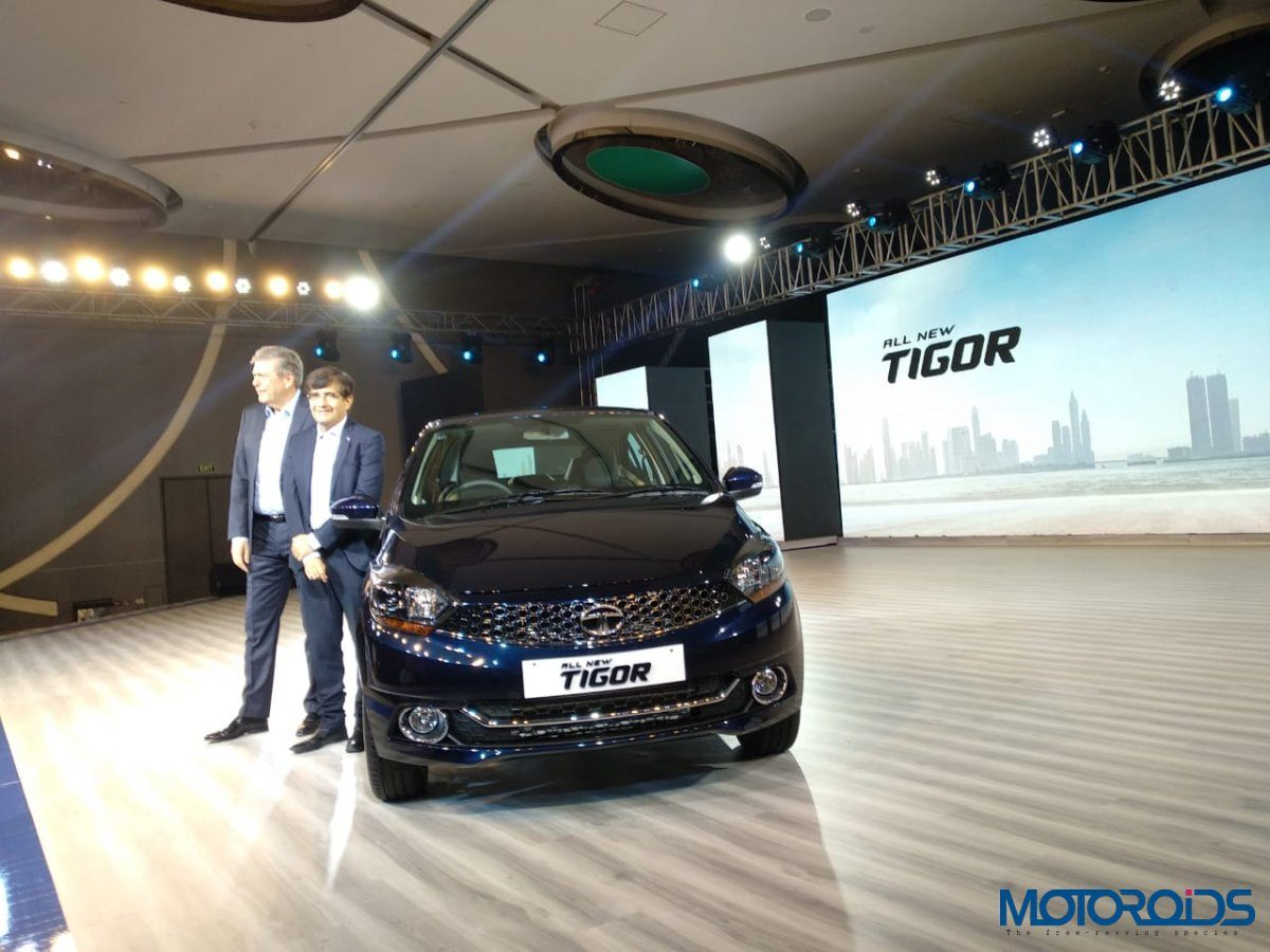 Tata Tigor Facelift launch wuarter with dignitaries