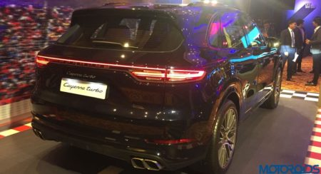 Third Generation Porsche Cayenne Launch turbo rear quarter