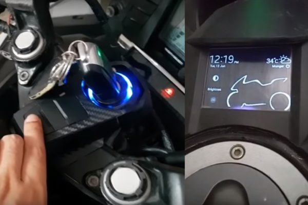 Yamaha R15 Touchscreen display and seat ejector