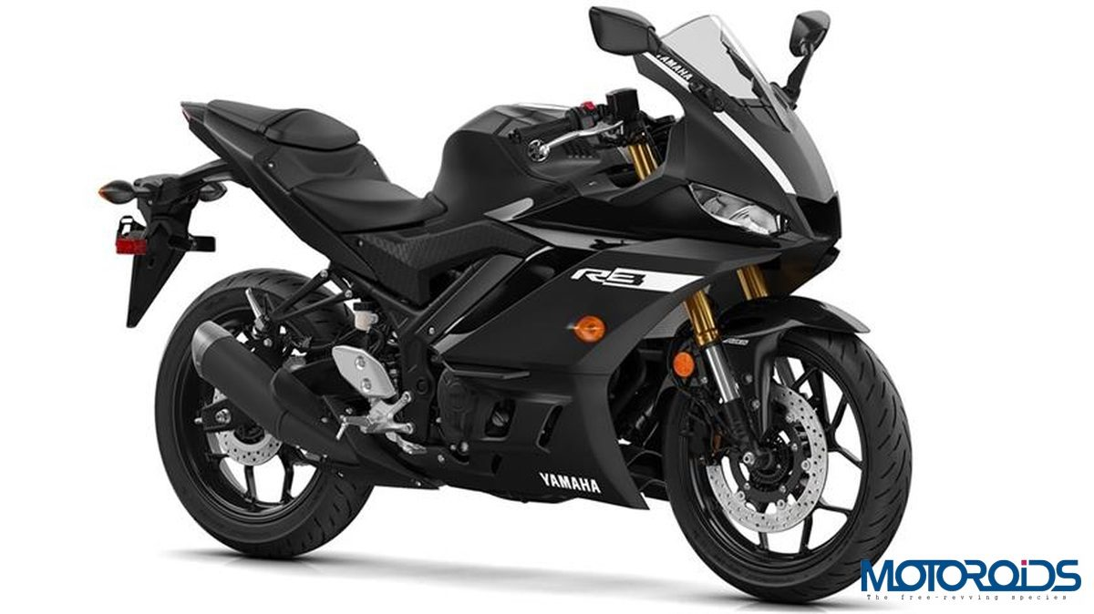 Yamaha R3 2019 Power Black Front Three Quarter