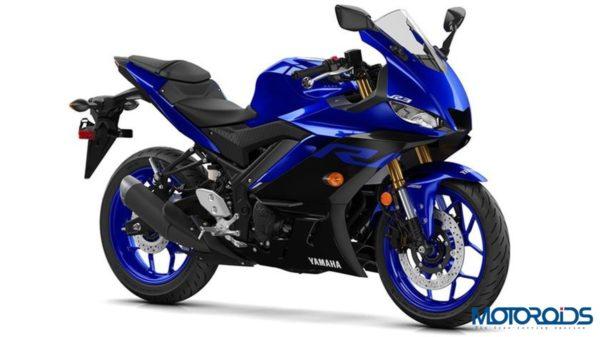 Yamaha R3 2019 Yamaha Blue Front Three Quarter