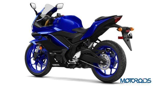 Yamaha R3 2019 Yamaha Blue Rear Three Quarter