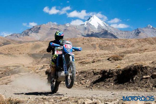 Natraj R Team TVS Raid de Himalya