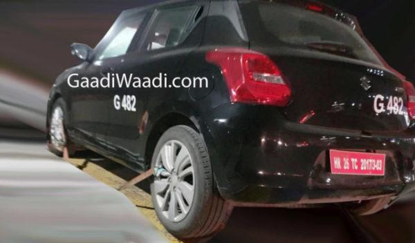 marutiswift RS spyshot rear