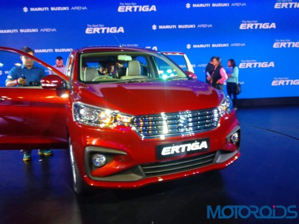 2019 Maruti Suzuki Ertiga front quarter