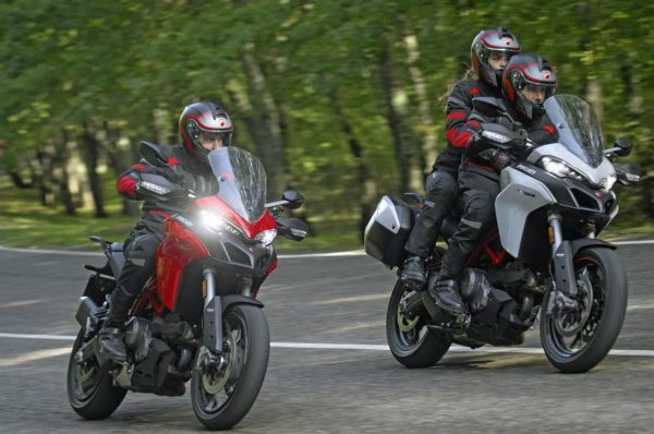 2019 Multistrada 950 red and grey rolling