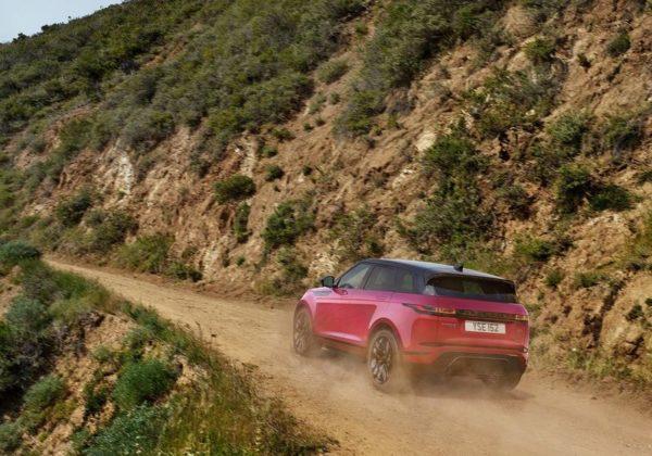 2019 Range Rover Evoque hill climb rear quarter