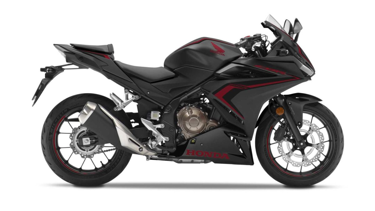 2019 honda cbr500r black side