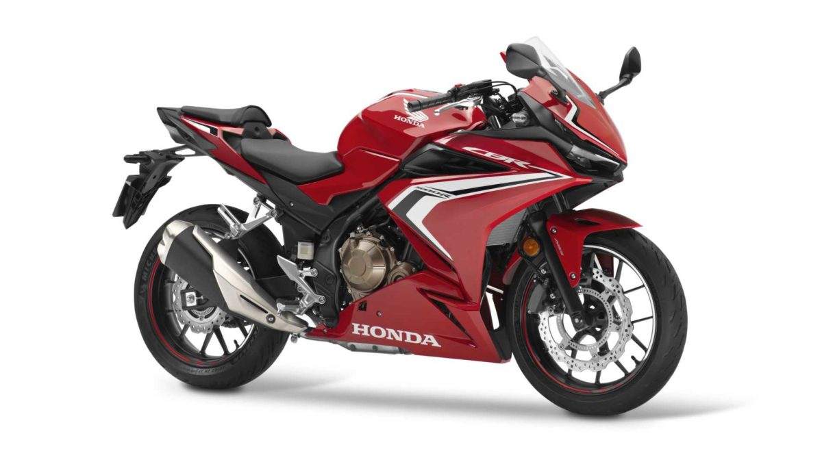 2019 honda cbr500r side quarter