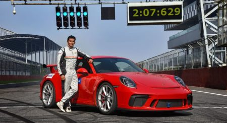 911 GT3 sets lap record car and timer