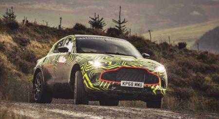 Aston Martin DBX Prototype front slide