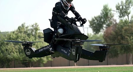 Flying bike Dubai Police front quarter