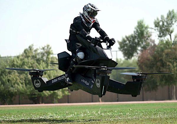 Flying bike Dubai Police front quarter