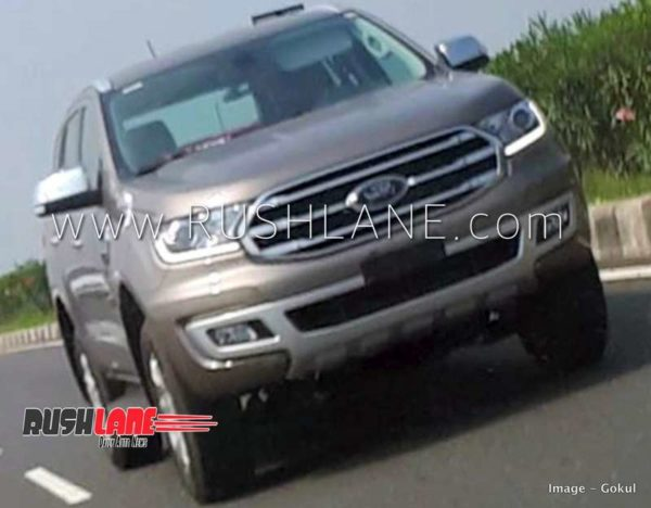 Ford Endeavour Facelift spied front