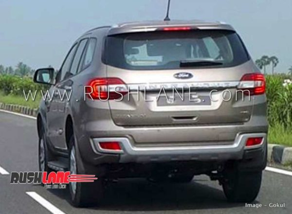 Ford Endeavour Facelift spied rear