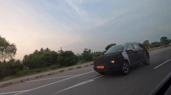 Hyundai Carlino spy shot rolling front