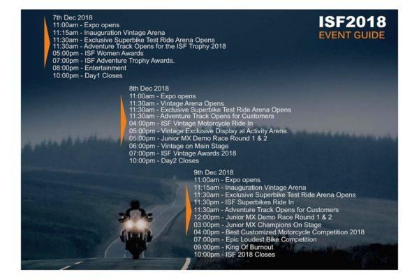 Indian superbike festival schedule