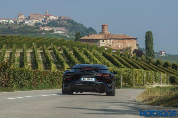 Italdesign ZeroUno rear action on road