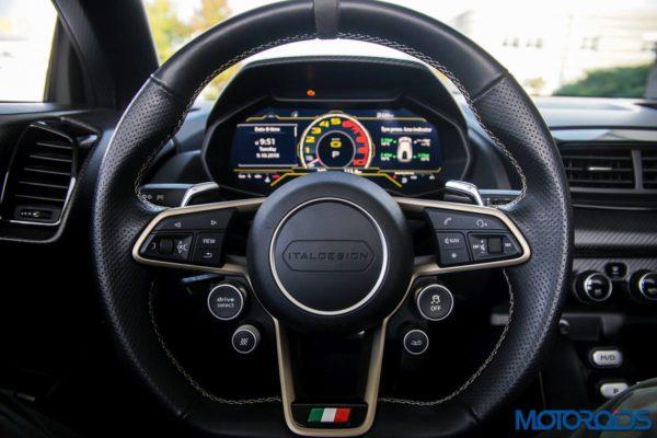 Italdesign ZeroUno steering
