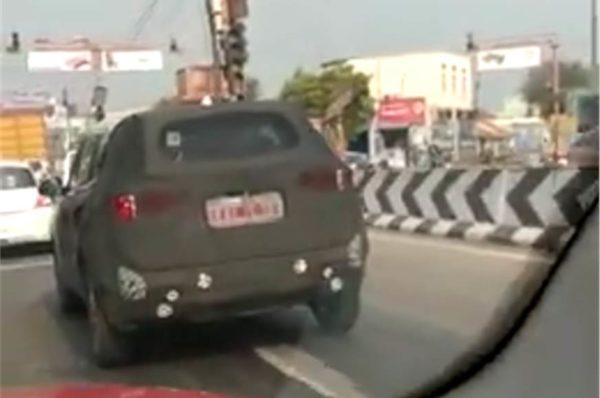 Kia SP spy shot rear