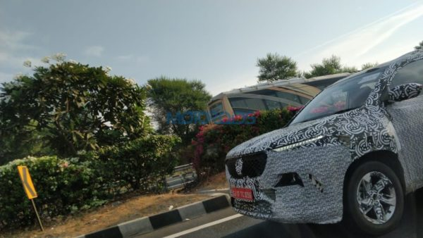 MG Motor SUV test mule front end