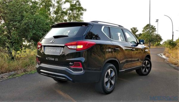 Mahindra Alturas G4 rear three quarters (2)