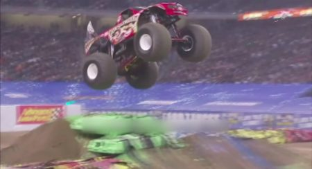 Monster truck maddness comes to India in air