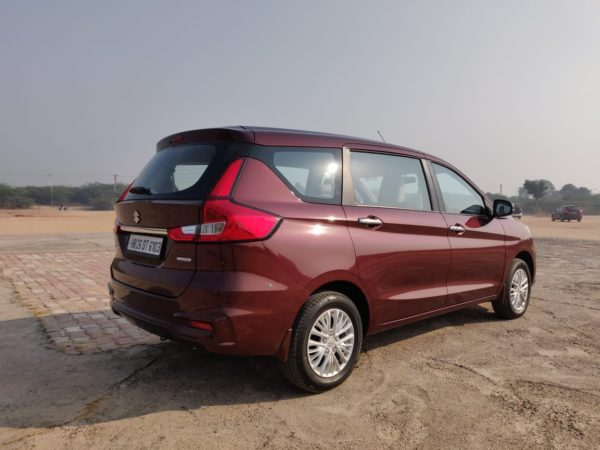 New 2019 Maruti Suzuki Ertiga rear three quarters(38)
