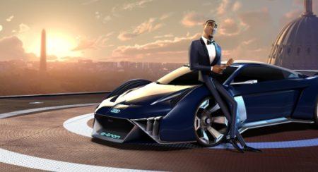 RSQ e-tron concept in movie