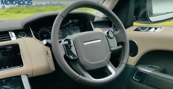 Range Rover Sport review steering wheel