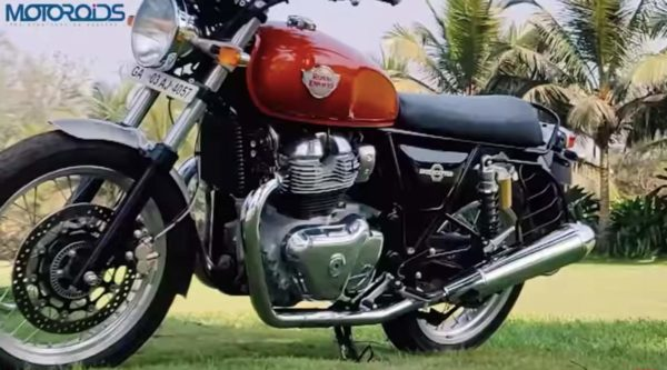 Royal Enfield Interceptor 650 side quarter low
