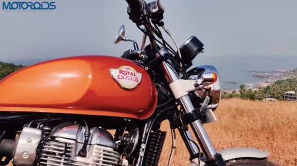 Royal Enfield Interceptor 650 tank